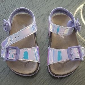 The childrens place iridescent sandals